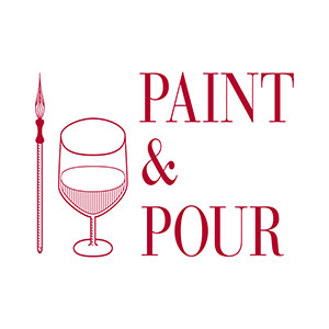 paint and pour graphic