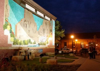 mural at night