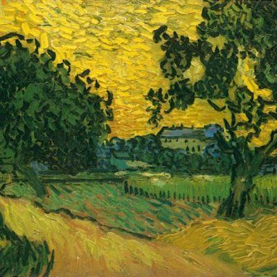 Van Gogh Castle Auvers at Sunset