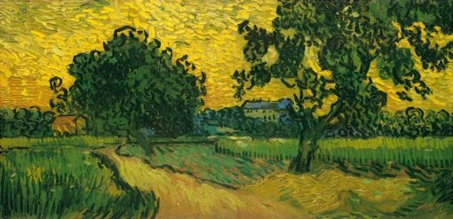 Van Gogh Castle Auvers at Sunset
