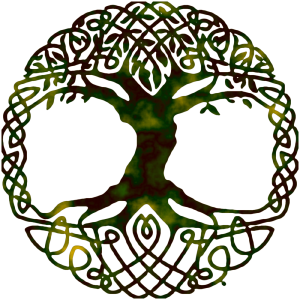 Celtic knots with a tree in the middle